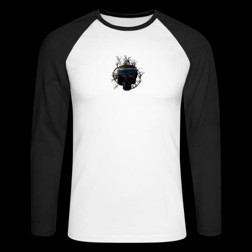 Tête de mort île - T-shirt baseball manches longues Homme