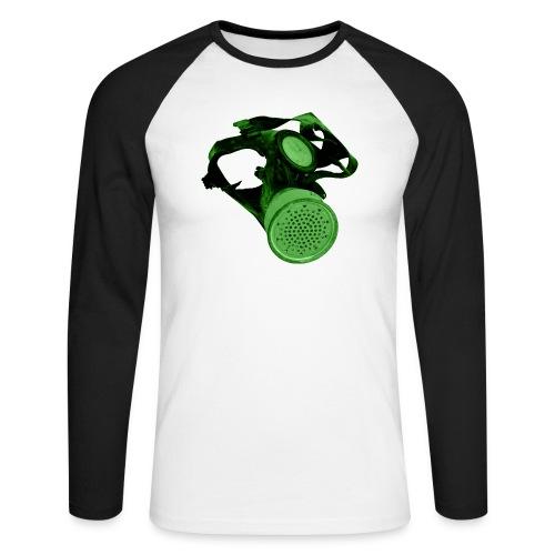 gas shield - Men's Long Sleeve Baseball T-Shirt