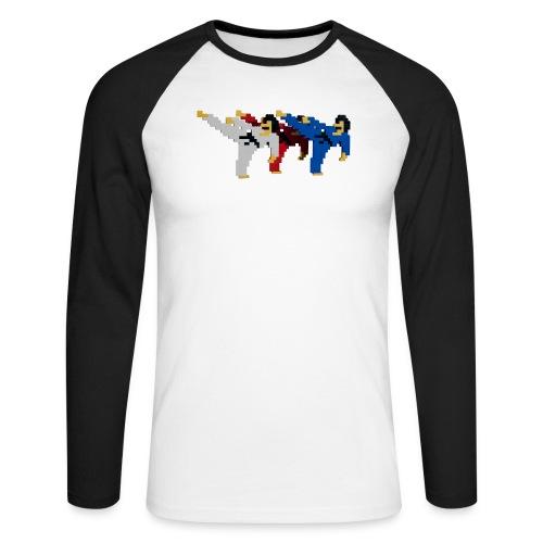8 bit trip ninjas 2 - Men's Long Sleeve Baseball T-Shirt