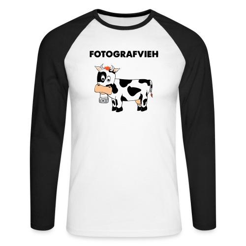 Fotografvieh - Männer Baseballshirt langarm