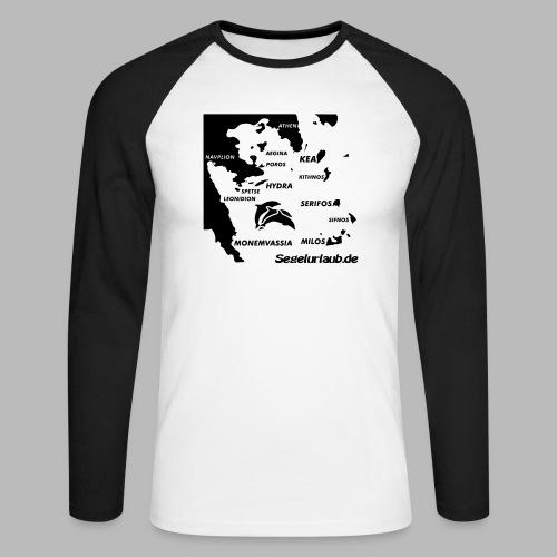 pelepones_kykladen - Männer Baseballshirt langarm