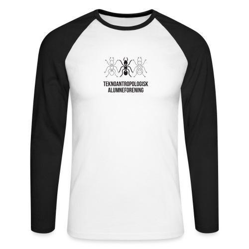 Teknoantropologisk Støtte T-shirt figur syet - Langærmet herre-baseballshirt