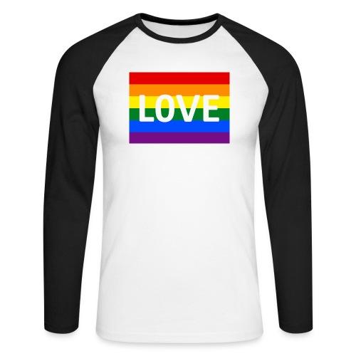 LOVE SHIRT - Langærmet herre-baseballshirt