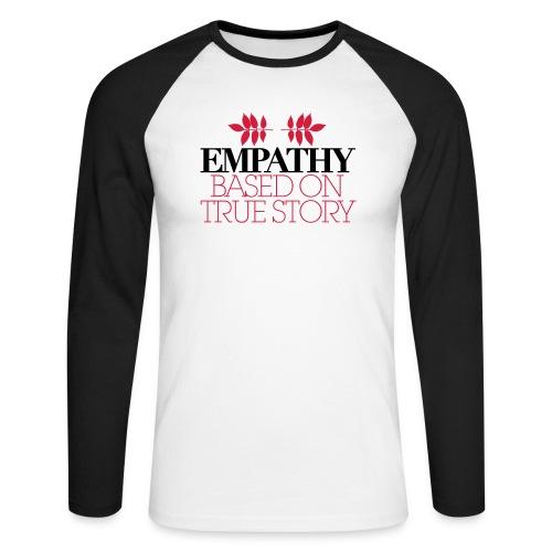empathy story - Koszulka męska bejsbolowa z długim rękawem