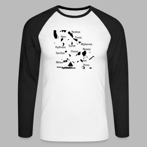 Kykladen Griechenland Crewshirt - Männer Baseballshirt langarm