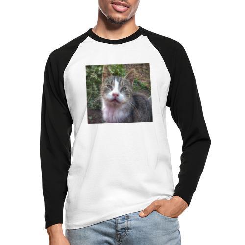 Katze Max - Männer Baseballshirt langarm
