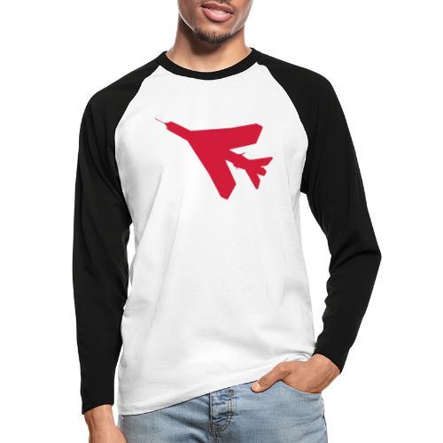 BAC English Electric Lightning Silhouette - Men's Long Sleeve Baseball T-Shirt