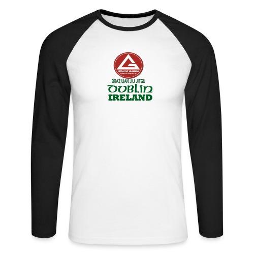 Gracie Barra Dublin Gaelic Celtic Font PNG - Men's Long Sleeve Baseball T-Shirt