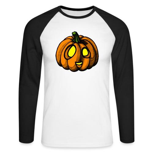 Pumpkin Halloween scribblesirii - Männer Baseballshirt langarm
