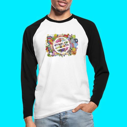 maglia logo doodle - Maglia da baseball a manica lunga da uomo