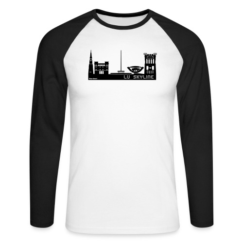 Lu skyline de Terni - Maglia da baseball a manica lunga da uomo