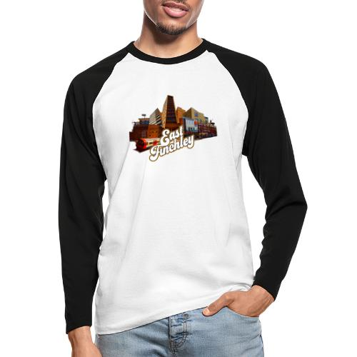 East Finchley Retro Montage - Men's Long Sleeve Baseball T-Shirt