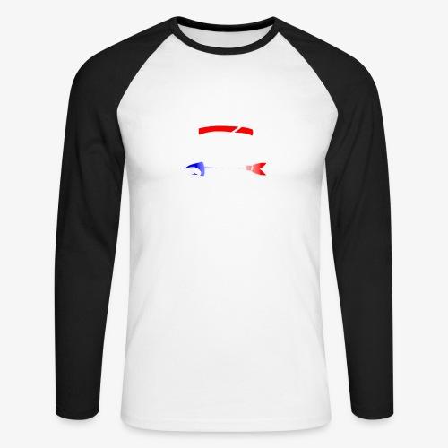 Code Bar white - T-shirt baseball manches longues Homme