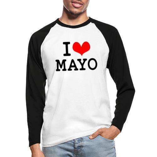 I Love Mayo - Men's Long Sleeve Baseball T-Shirt
