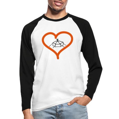 Herzjurte - Männer Baseballshirt langarm
