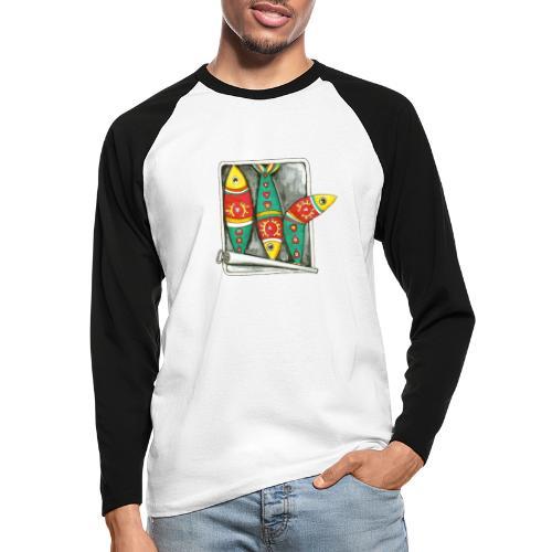 Les sardines du Portugal - T-shirt baseball manches longues Homme