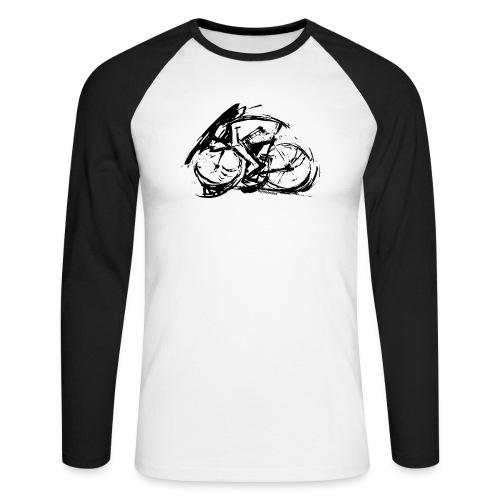 futuristischer radfahrer - Männer Baseballshirt langarm