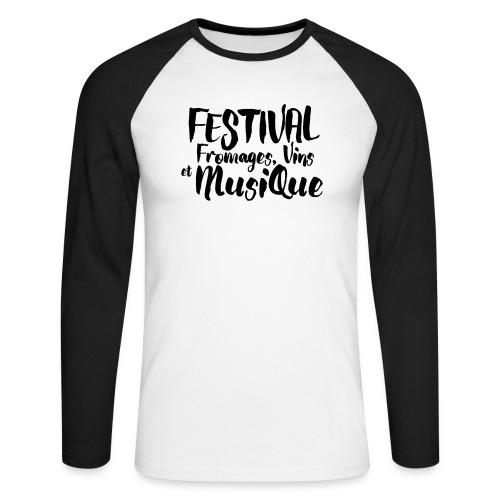 Festival FVM - T-shirt baseball manches longues Homme