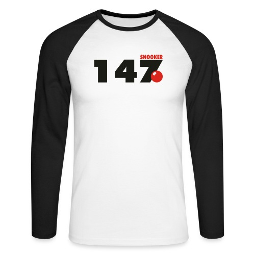 147 Snooker - Männer Baseballshirt langarm