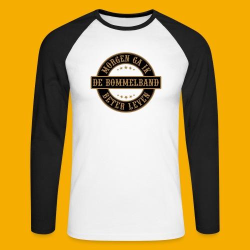 bb logo rond shirt - Mannen baseballshirt lange mouw