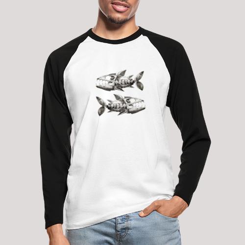 FishEtching - Men's Long Sleeve Baseball T-Shirt