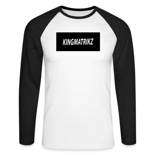 kingmatrikz - Langærmet herre-baseballshirt