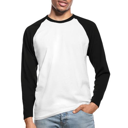 illustration logo blanc - T-shirt baseball manches longues Homme