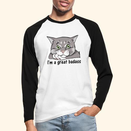 Nice Dogs CATS - Maglia da baseball a manica lunga da uomo