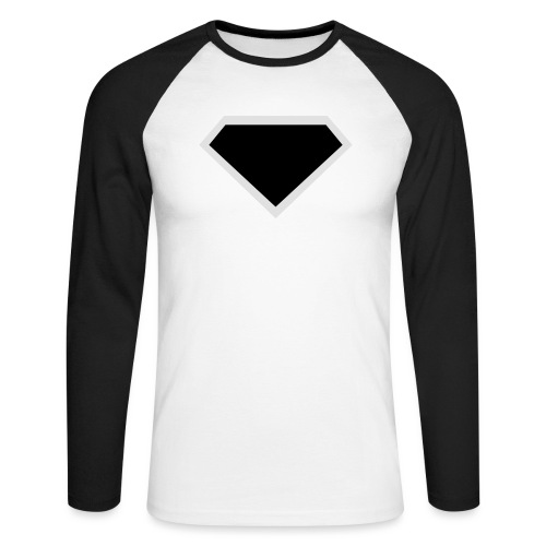 Diamond Black - Two colors customizable - Mannen baseballshirt lange mouw