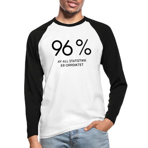 Statistikk-sprøyt (fra Det norske plagg) - Langermet baseball-skjorte for menn