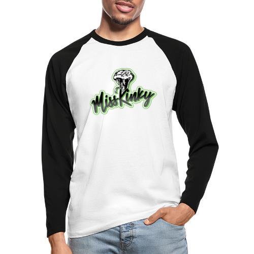 Logo Miss Kinky vert - T-shirt baseball manches longues Homme