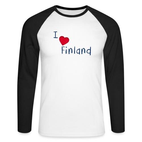 I Love Finland - Miesten pitkähihainen baseballpaita