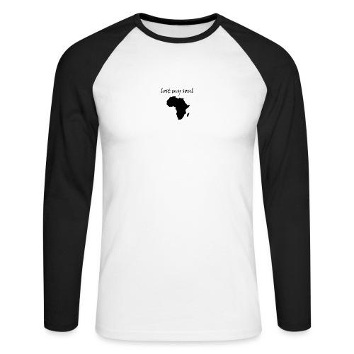 lost my soul in africa - Männer Baseballshirt langarm