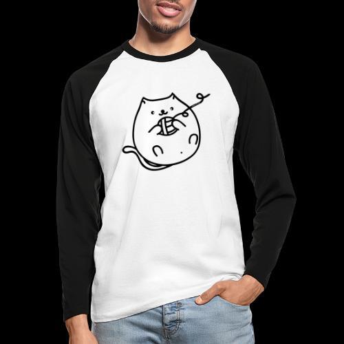 classic fat cat - Männer Baseballshirt langarm