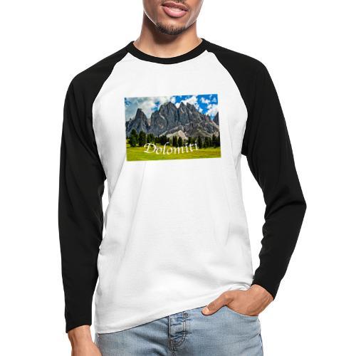 Naturpark Puez Geisler - Männer Baseballshirt langarm