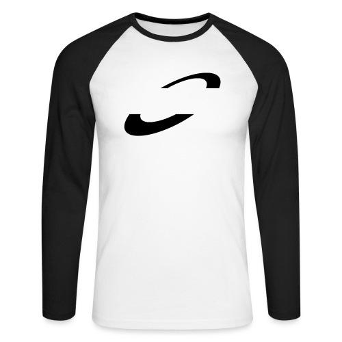 Planet Cycling Icon Black - Men's Long Sleeve Baseball T-Shirt