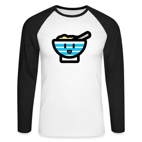 Cute Breakfast Bowl - Men's Long Sleeve Baseball T-Shirt