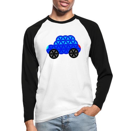 The Car Of Life - M01, Sacred Shapes, Blue/R01. - Men's Long Sleeve Baseball T-Shirt