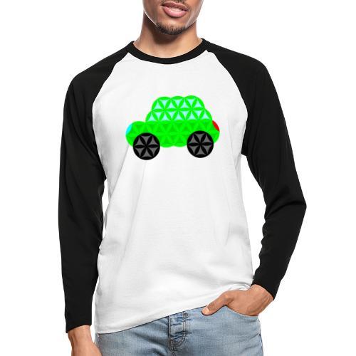 The Car Of Life - M01, Sacred Shapes, Green/R01. - Men's Long Sleeve Baseball T-Shirt