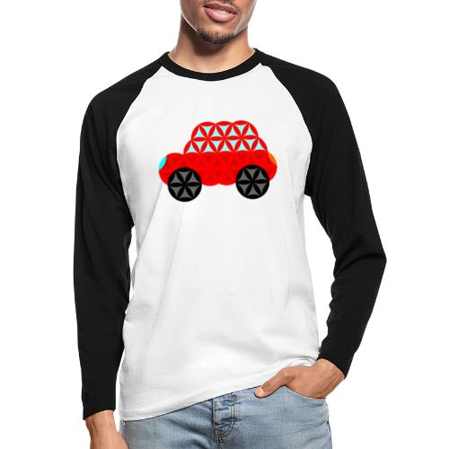 The Car Of Life - M01, Sacred Shapes, Red/R01. - Men's Long Sleeve Baseball T-Shirt