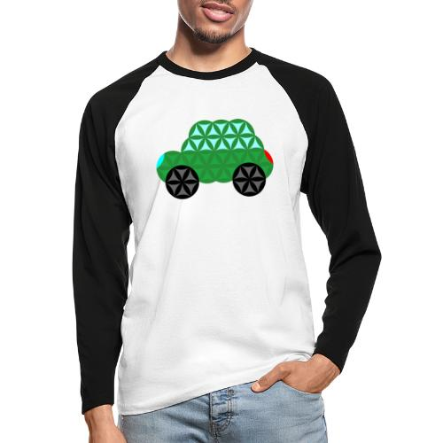 The Car Of Life - M02, Sacred Shapes, Green/363 - Men's Long Sleeve Baseball T-Shirt