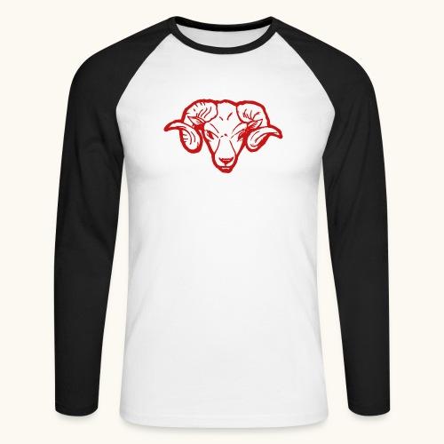 Roter Widderkopf Rammbock Geschenkidee Teufel - T-shirt baseball manches longues Homme