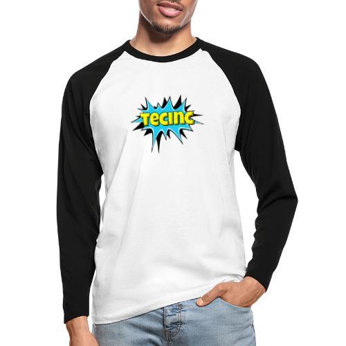 Cartoon logo - Langærmet herre-baseballshirt