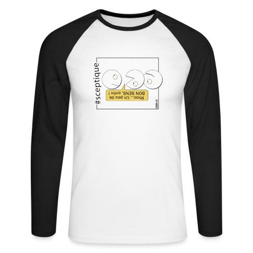 Scepticisme et Bon Sens - T-shirt baseball manches longues Homme