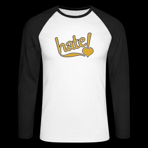 hate ! - T-shirt baseball manches longues Homme