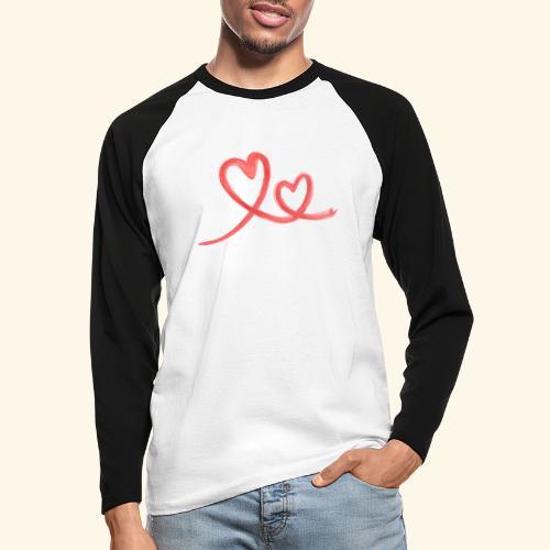 Duo Cœur Main levée - Saint Valentin - T-shirt baseball manches longues Homme