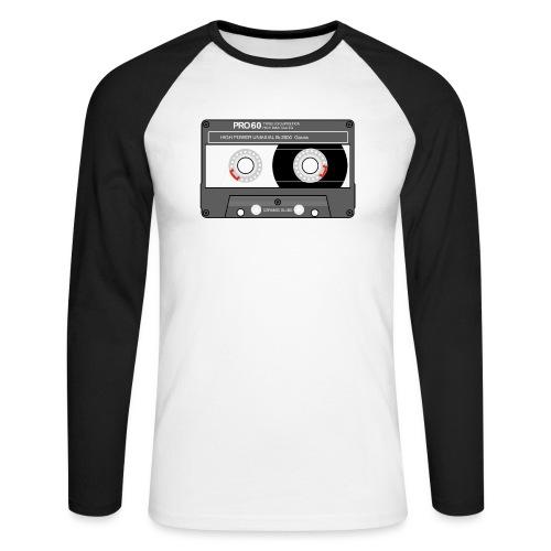 Cassette SONY UX Pro black - Men's Long Sleeve Baseball T-Shirt