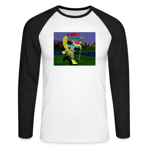 Bruno II - Langermet baseball-skjorte for menn