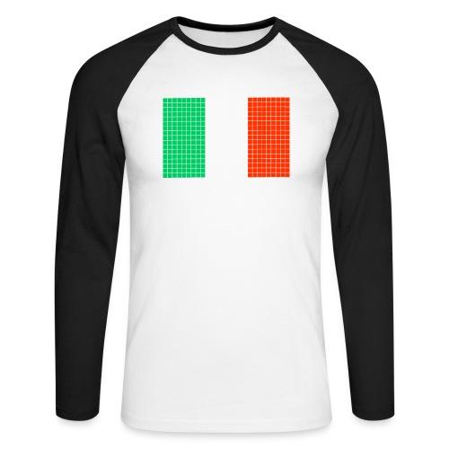 italian flag - Maglia da baseball a manica lunga da uomo