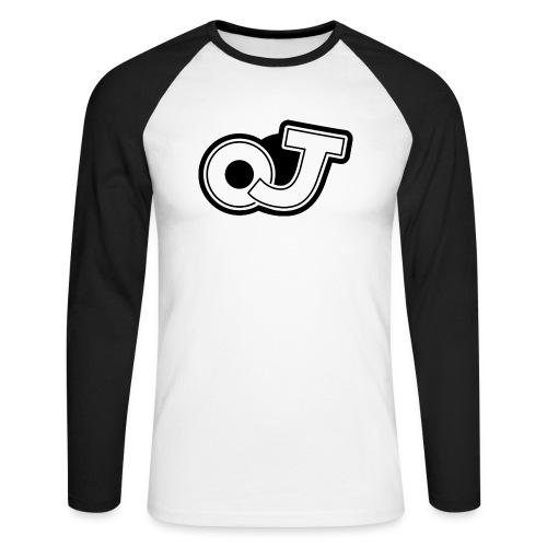 OJ_logo - Mannen baseballshirt lange mouw